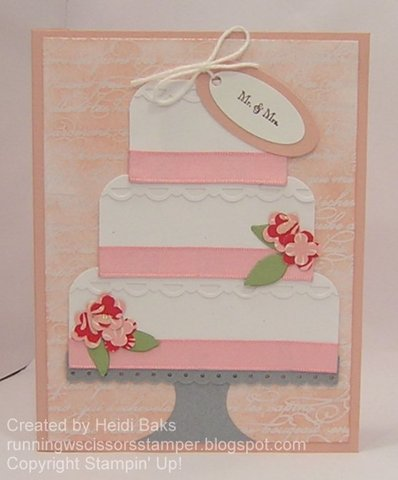 Heidi Baks' Wedding Card